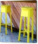 Yellow Stools Canvas Print