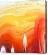 Yellow Sunlight Abstract Art Canvas Print