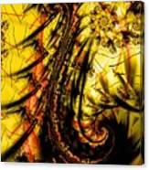 Yellow Symbol Design Canvas Print