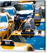 Yellow Taxis Canvas Print