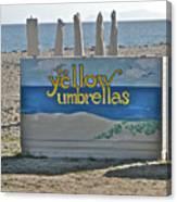 Yellow Umbrellas Canvas Print