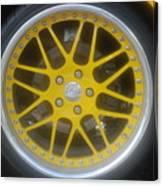 Yellow Vette Wheel Canvas Print