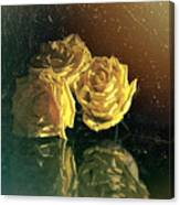 Yellow Vintage Roses  Canvas Print
