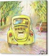 Yellow Vw Canvas Print