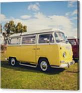 Yellow Vw T2 Camper Van 02 Canvas Print