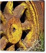 Yellow Wheel Canvas Print