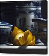 Yellow White Blue Canvas Print