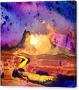 Yellow Woman Canvas Print