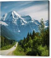 Yellowhead Highway In Mt. Robson Provincial Park, Canada Canvas Print