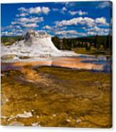 Yellowstone Geyser Canvas Print