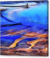 Yellowstone Grand Prismatic Spring Geothermal Water Canvas Print
