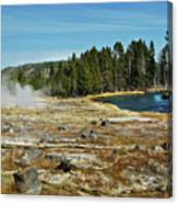 Yellowstone Hot Springs Canvas Print