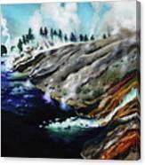 Yellowstone Hot Springs Canvas Print