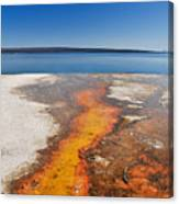 Yellowstone Lake And West Thumb Geyser Flow Canvas Print