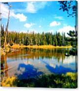 Yellowstone Lake In Summer Canvas Print