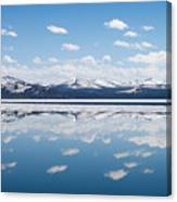Yellowstone Lake Reflection Canvas Print