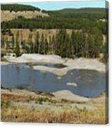 Yellowstone Mineral Ponds Canvas Print