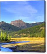 Yellowstone National Park Landscape Canvas Print