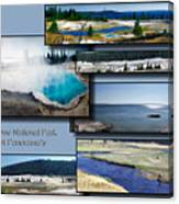 Yellowstone Park August Panoramas Collage Canvas Print