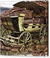 Yellowstone Park Stage Coach With Horses Pa 01 Canvas Print