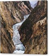 Yellowstone River Falls Canvas Print