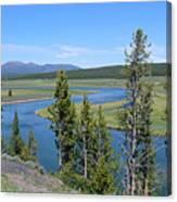 Yellowstone River Panarama Canvas Print