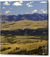 Yellowstone Vista Canvas Print