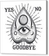 Yes No Goodbye Magic Ouija Vintage Planchette Design Canvas Print