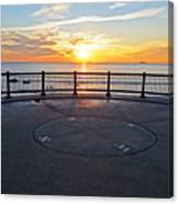 Yes, The Sun Rises To The East Red Rock Park Lynn Shore Drive Canvas Print