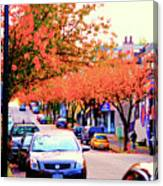 Yew Street Autumn Canvas Print
