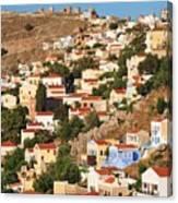 Yialos Town On Symi Island Canvas Print
