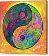 Yin Yang Flow Canvas Print
