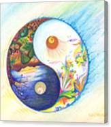 Yin Yang Spring And Autumn Canvas Print