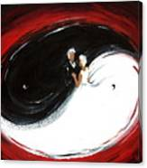 Yin Yang Wedding Canvas Print