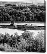 Ynys Gored Goch Island In The Menai Strait North Wales Uk Canvas Print