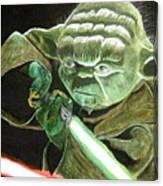 Yoda Fights Canvas Print