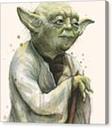 Yoda Portrait Canvas Print