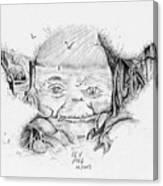 Yoda's Back Garden Canvas Print