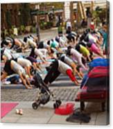 Yoga At Bryant Park Canvas Print