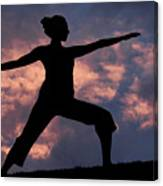 Yoga Sunset Canvas Print