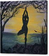 Yoga Tree Pose Canvas Print