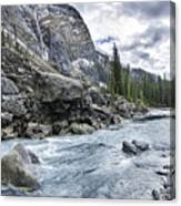 Yoho River At Takakkaw Falls Canvas Print