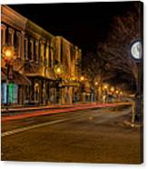 York South Carolina Downtown During Christmas Canvas Print