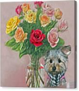 Yorkey Rose Canvas Print