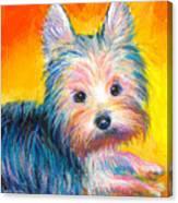 Yorkie Puppy Painting Print Canvas Print