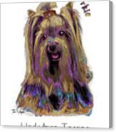 Yorkshire Terrier Pop Art Canvas Print