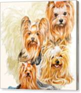 Yorkshire Terrier W/ghost Canvas Print