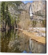 Yosemite Falls Reflection Canvas Print