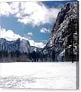 Yosemite Meadow In Winter Canvas Print