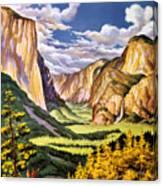 Yosemite National Park Vintage Poster Canvas Print
